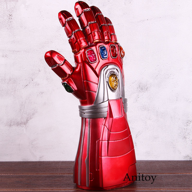 Avengers Endgame Iron Man Nano Gauntlet Infinity Gauntlet Glove Cosplay PVC Action Figure Collectible Model Toy With LED Light 1
