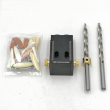 FOXBC Woodworking Oblique Hole Locator Pocket Hole Jig Kit Household Cabinet Furniture Woodworking Tools with drills