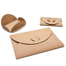 100PCS Small Size Retro Kraft Paper Envelopes Handmade DIY Envelopes #CW