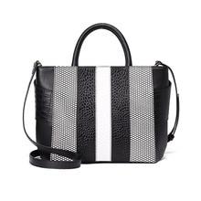 цена на Genuine leather handbags for women luxur famous brands femme bags designer shoulder bag fashion crocodile pattern cross-body bag