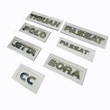 เงิน3D ABSรถสติกเกอร์Trunkป้ายสัญลักษณ์โลโก้ChromeสำหรับVW Passat B5 B6กอล์ฟ4 6 jetta 6 Polo Tiguan Bora CC
