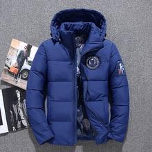 купить 2018 New Fashion Winter White Duck Down Jacket men brand male warm down Coat top quality fashion casual blue down Parkas men дешево