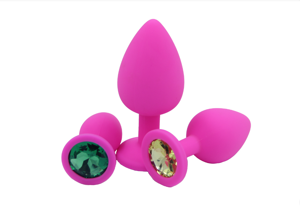 Three Sizes And Three Colors Anal Plug,reusable Silicone  Anal Toys Big Anal Plug Stimulating Anal Adult Game Sex Toys