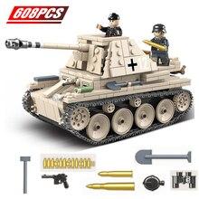 Military Selbst-anti-tank Pistole Bausteine Fit Deutsch Tank Ziegel WW2 Armee Soldat Waffe Spielzeug Geschenk für kinder