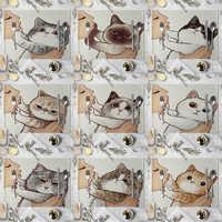 Manteles con estampado de animales de dibujos animados de gato bonito, manteles con estampado de gato para niños, salvamanteles de cocina para niños
