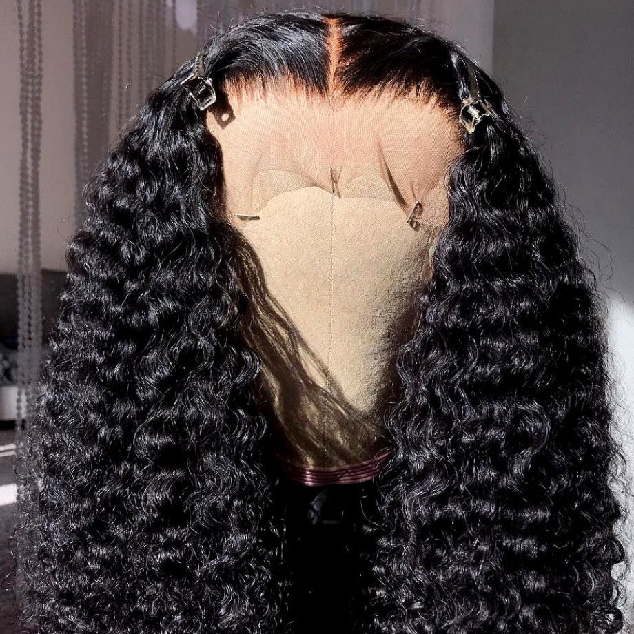 Image 4 - Kinky curly human hair wig Brazilian Lace Front Human Hair Wigs Natural Remy Hair For Black Women PrePlucked with Baby Hair 13x4-in Human Hair Lace Wigs from Hair Extensions & Wigs