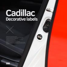 Autocollants de joint Anti Abrasion en PVC, 4 pièces, pour Cadillac Escalade ATS BLS cds CT4 CT5 CT6 EXT STS SLS SLR SRX XLR XTS XT4