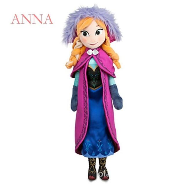 50 CM Frozen Snow Queen Elsa Stuffed Doll Princess Anna Elsa Doll Toys Elza Stuffed Plush Kids Toys Halloween Birthday Gift 5