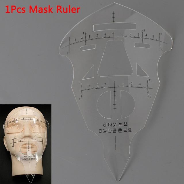 Face Eyebrow 3D Ruler Practice Mask Semi-permanent Tattoo Stencil Measure Tool For Beginner Tattoo Eyebrow Lip Makeup Template 1