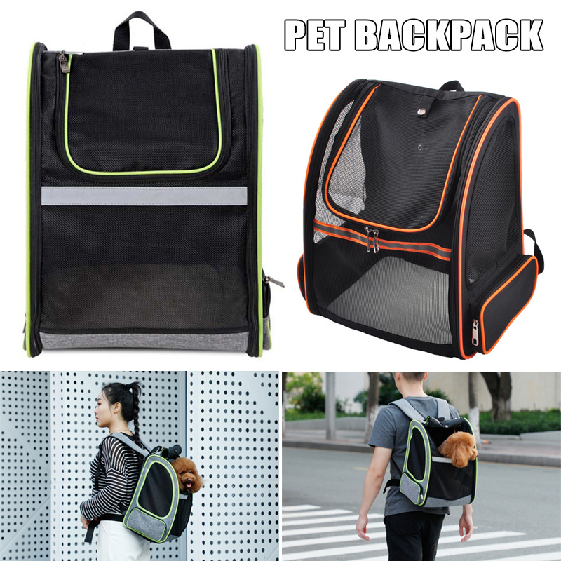 High Pet Carrier <font><b>Backpack</b></font> for Small Dogs Cats Breathable Mesh Puppy Pack Bag LG66 image