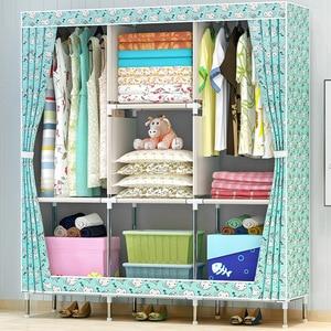 Image 4 - GIANTEX Тканевый шкаф для одежды, складной портативный шкаф для хранения вещей, мебель для дома и спальни
