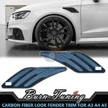 Накладка на крыло из углеродного волокна ABS ABT для A3, A4, A5, A6, A7, Q3, Q5, Q7, запчасти для стайлинга автомобилей, вентиляционное крыло, декоративная отделка