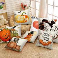 Halloween Kissen Fällen Glücklich Herbst Y'all Baumwolle Leinen Sofa Auto Kürbis ghosts Kissen Abdeckung Wohnkultur 2019 neue # p7