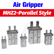 SMC Type MHZ2 Double Acting Air Pneumatic parallel Gripper MHZ2-10D MHZ2-16D 20D 25D 32D 40D  Aluminium Clamps Finger Cylinder cy1s 20mm bore air slide type cylinder pneumatic magnetically smc type compress air parts coupled rodless cylinder parts sanmin