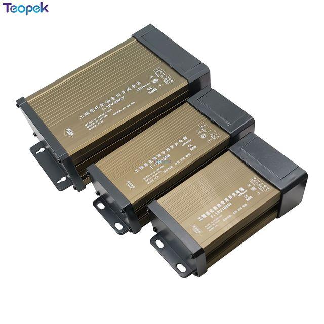 Alimentation étanche étanche IP43, DC12V, 60W, 100W, 150W, 200W, 300W, 400W, 220V, LED, transformateur dextérieur