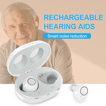 deaf aid Smart New style rechargeable Hearing Aid Low-noise Wide-frequency One-click Operation  Elderly In-ear Hearing Aids