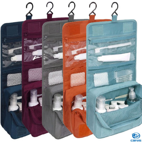 Travel Packing Organizers Makeup Cosmetic Toiletry Case Wash Organizer Storage Pouch Hanging Bag Travel Accessories image