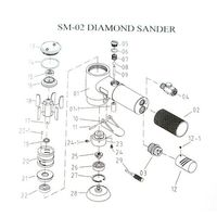 1set 2/3inch Mini Air Sander Set Pneumatic Orbital Polishing Machine For Auto Body High Quality