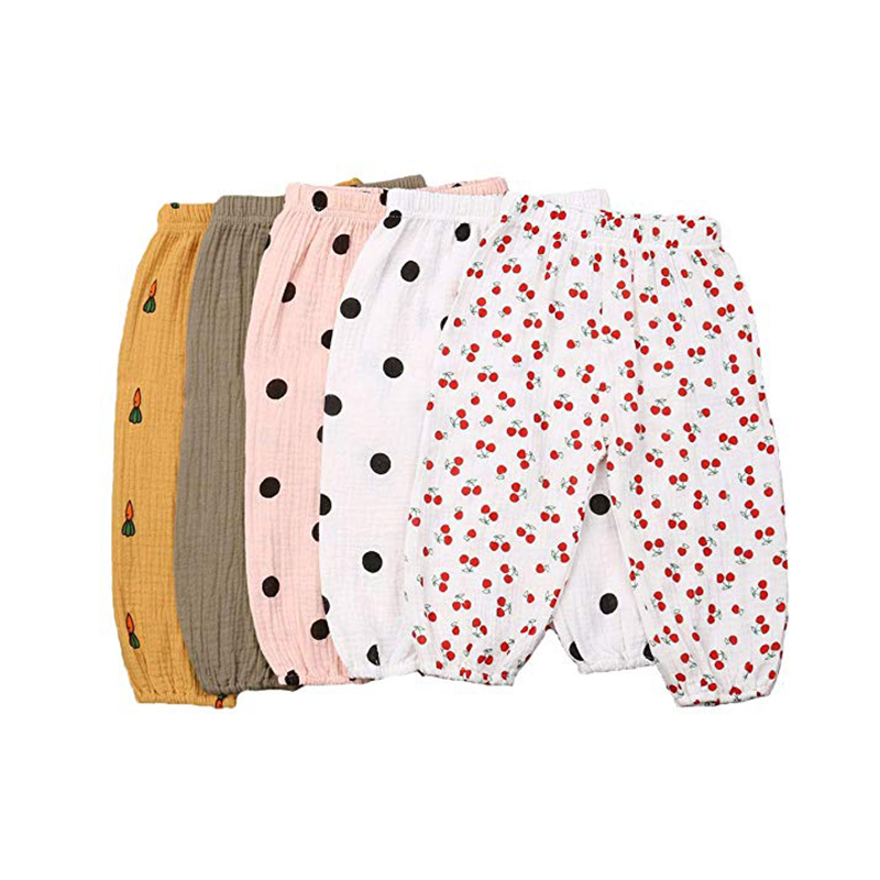 Toddler Baby Boy Girl Spring Autumn Cotton and Linen Pants Polka Dot Trousers Twin Kids Bloomers Elastic Harem Pants Soft in Pants from Mother Kids