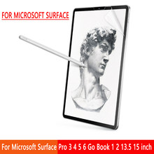 Paper Like Screen Protector Film Matte PET Anti Glare Painting For Microsoft Surface Pro 3 4 5 6 Go Book 1 2 13.5 15 inch(China)