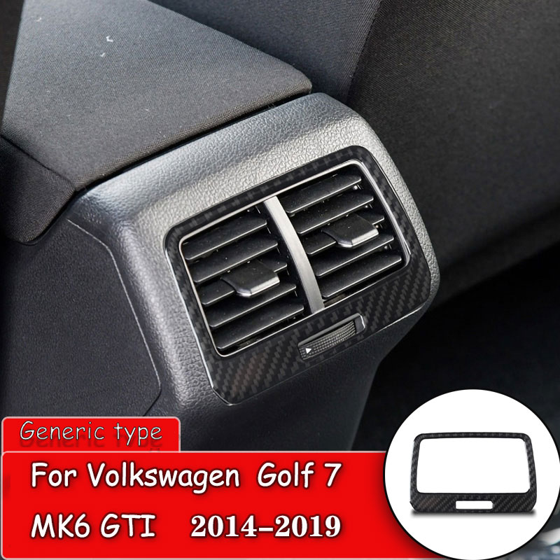 Carbon Fiber Car Interior Back Air Vent Outlet Decora Sticker Protection Trim For Volkswagen Vw Golf 7 Gti Mk7 2014 2019 Car Stickers Aliexpress