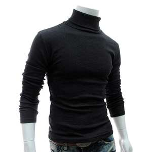 Wool Sweater Pullovers Turtleneck Knitted Autumn Winter Mens Casual Slim Solid