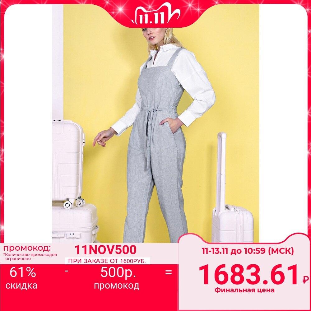 Комбинезон из смесового льна Baon B499015 Спортивные костюмы    АлиЭкспресс