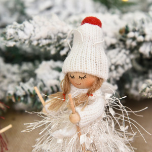 1pc Christmas Tree Decorations Cute Angel Doll Girl Pendant Navidad 2021 New Year Christmas Tree Ornaments Xmas Gift for Kids