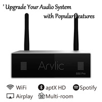 S50 Pro WiFi and aptX HD Bluetooth Preamplifier Wireless Audio Receiver with ESS Sabre Dac Multi room Airplay Spotify Free APP