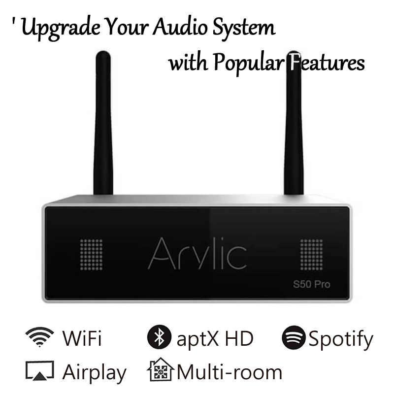 S50 Pro WiFi i aptX HD Bluetooth przedwzmacniacz bezprzewodowy odbiornik Audio z ESS saber Dac multi-room Airplay Spotify darmowa aplikacja