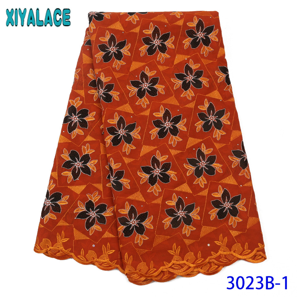 African Dresses For Women 2019 New African Lace Fabric High Quality Swiss Voile Lace Fabrics With Stones KS3023B