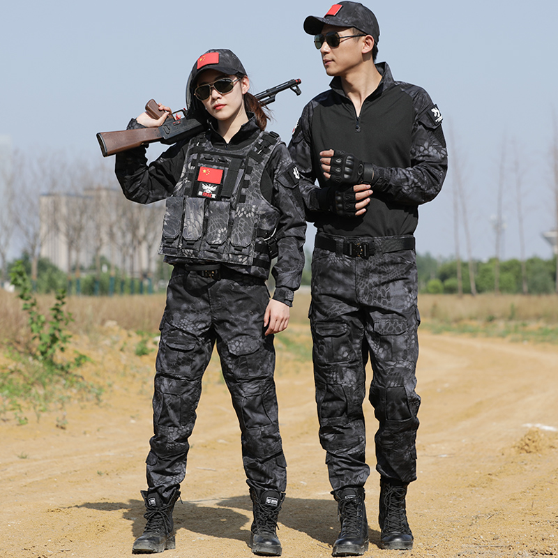 Black Python Military Uniform Tactical Combat Vest Shirt Army Clothing Airsoft CS Hunting Clothes Men Women Pants Knee Pads
