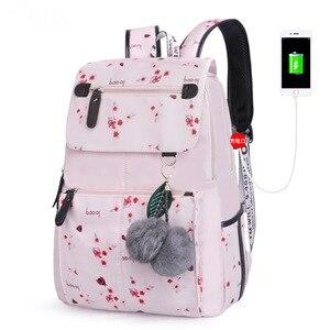 Image 3 - Mode femme sac à dos motif fleur femmes sac à dos étanche sacs à bandoulière adolescente sac décole Mochilas femme étudiant