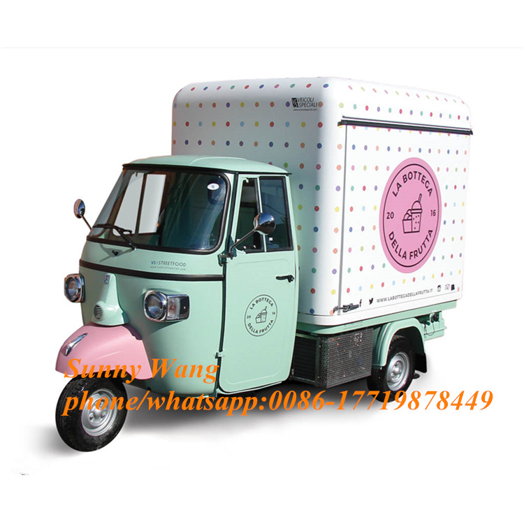 Piaggio Ape Food Truck Ape Style Fast Food Car Mobile Food Cart