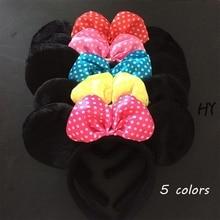 1 Pcs/lot Cute Fashion Women Girls Cartoon Mouse Ears Soft Cotton Headband Hairband Party Hair Accessories Hot