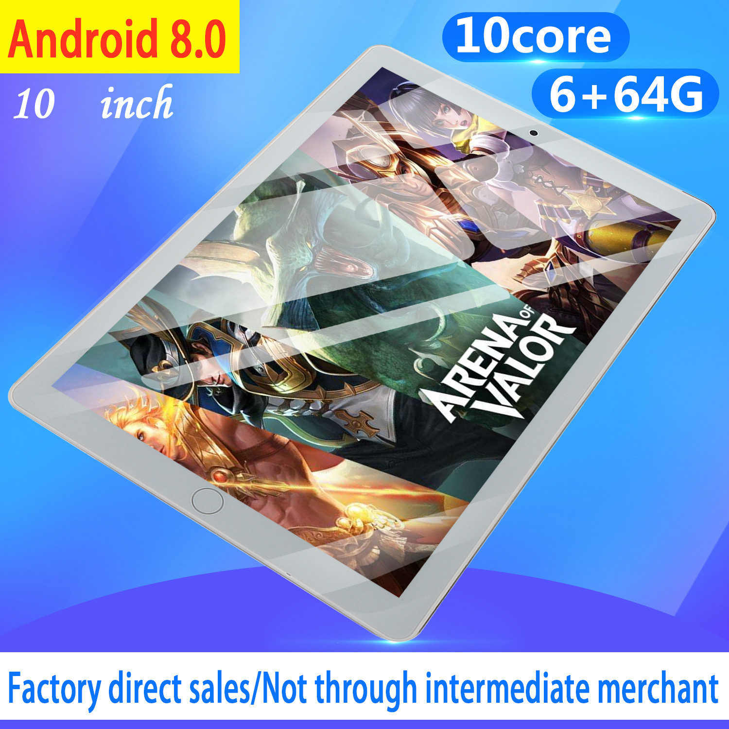 NEW 10.1 Inch Tablet Pc Octa Core Android 8.1 6GB RAM 128GB ROM IPS Dual SIM Phone Call Tab Phone Pc Tablets 2020