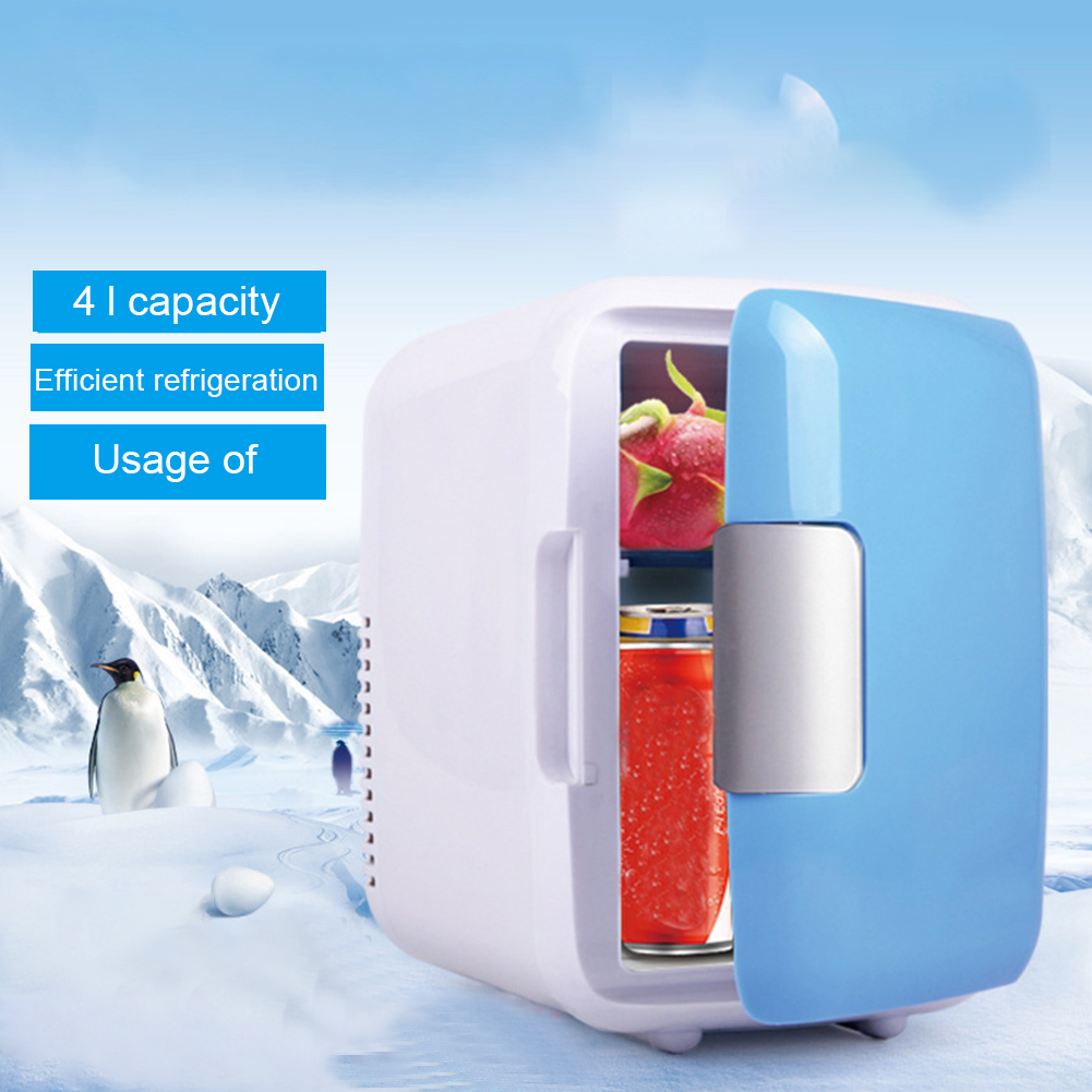 Car Refrigerator Cosmetics Vegetable-Cooling Mini Home 4L 2-Layers Buckle Heating Large-Capacity