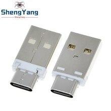 TZT 5A Mini konwerter typ A męski USB na TYPE-C kobieta USB 3.1 złącze wtykowe kompatybilność QC4.0 QC3.0 PD ładowarka do telefonu komórkowego