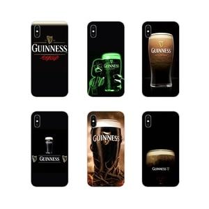 Elastyczne piwo guinnessa dla Apple iPhone X XR XS 11 pro MAX 4S 5S 5C SE 6S 7 8 Plus ipod touch 5 6 akcesoria obudowa na telefon okładki