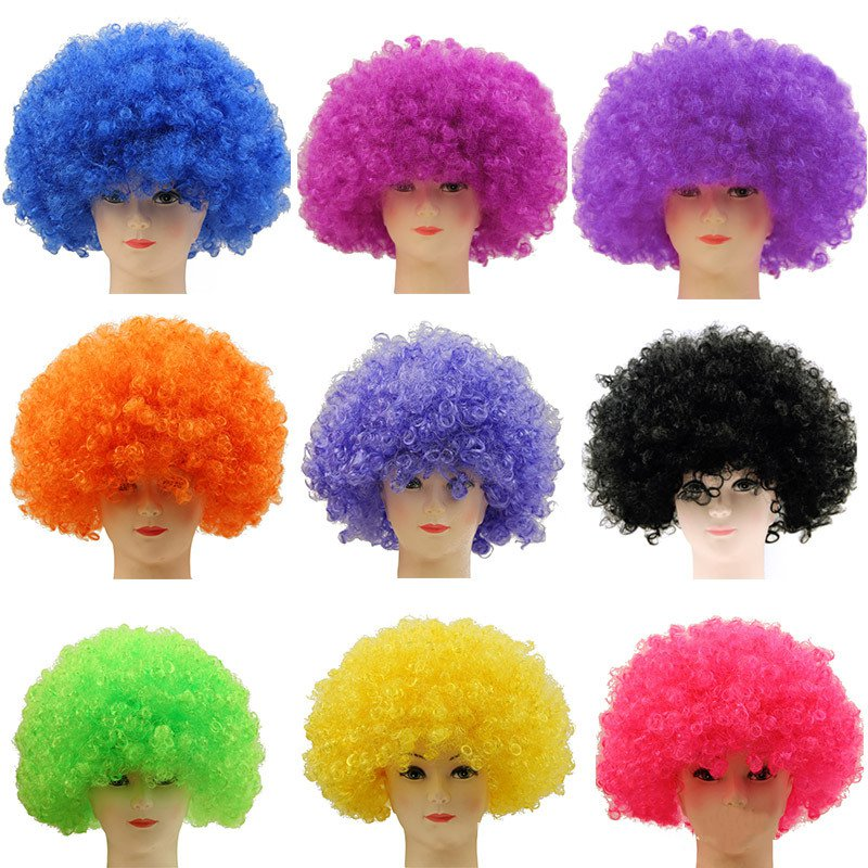 Colorful Clown Wigs Men Female New Handmade Masquerade Stage Performance Accessories High Quality Emulation Props Curly Hair