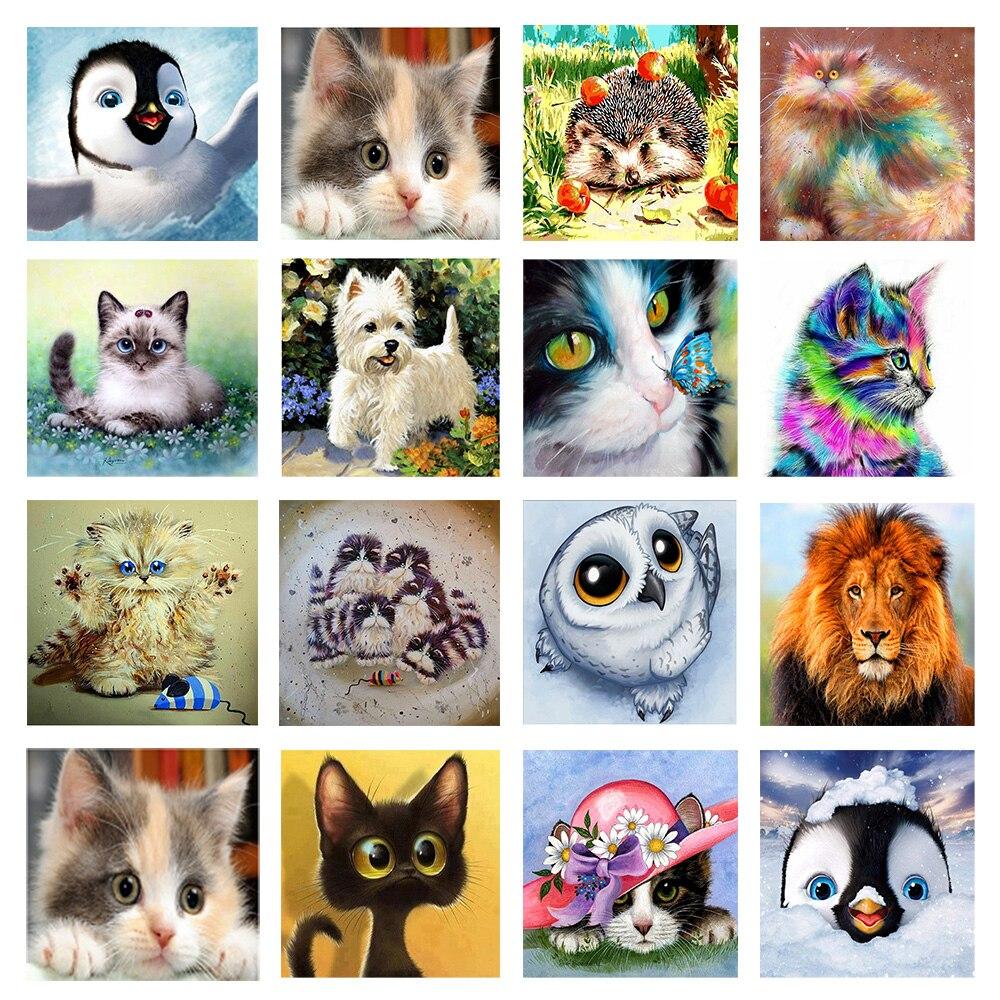 Полная круглая Алмазная картина с изображением животных из мультфильмов, вышивка Cccessories, мозаика, украшение для дома, подарки ручной работы