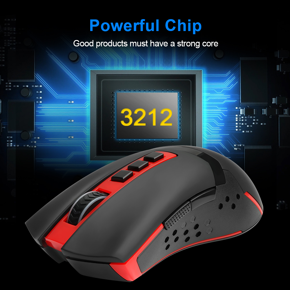 Redragon Blade M692 USB Wireless Gaming Mouse 4800 DPI 9 buttons Programmable ergonomic for overwatch gamer Mice pc computer