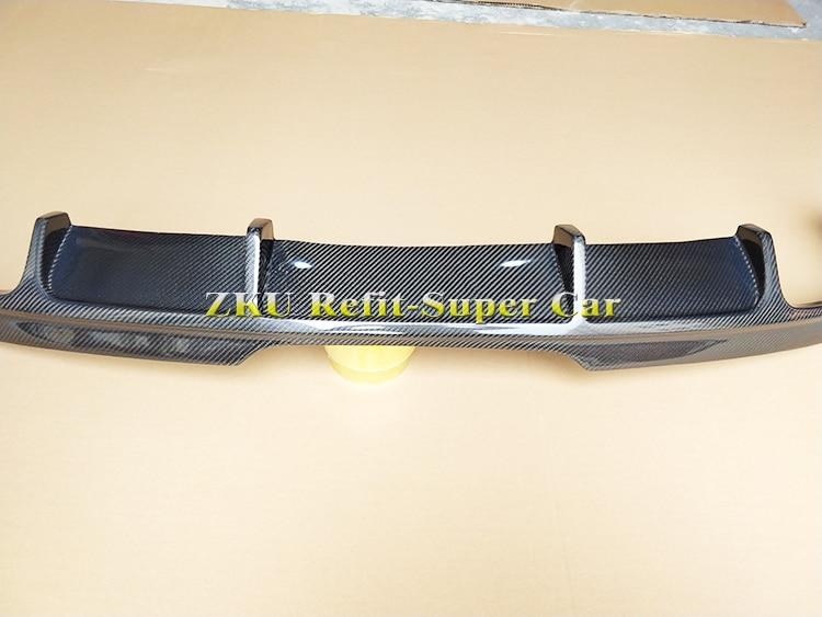 Carbon Fiber Car Rear Bumper Diffuser Lip Spoiler for Audi TT 2011 2013 Auto Car Spoiler Sticker in Body Kits from Automobiles Motorcycles