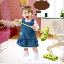 Toys Mop-Broom Dustpan Kids Sweeping-House Mini Gift Stretchable Baby