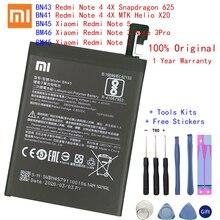 BN43 BN41 BM45 BM46 BN45 pil için Xiaomi Redmi not 5 4 4X 3 2 Note2 Note3 Note4 Note4X yedek lityum polimer Bateria