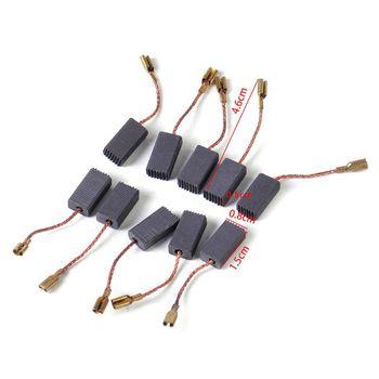 10pcs Carbon Brushes Replacement fit for BOSCH GWS 580 GWS 850 C GWS 7-115 GWS углошлифмашина bosch gws 15 150 cih 0 601 830 522