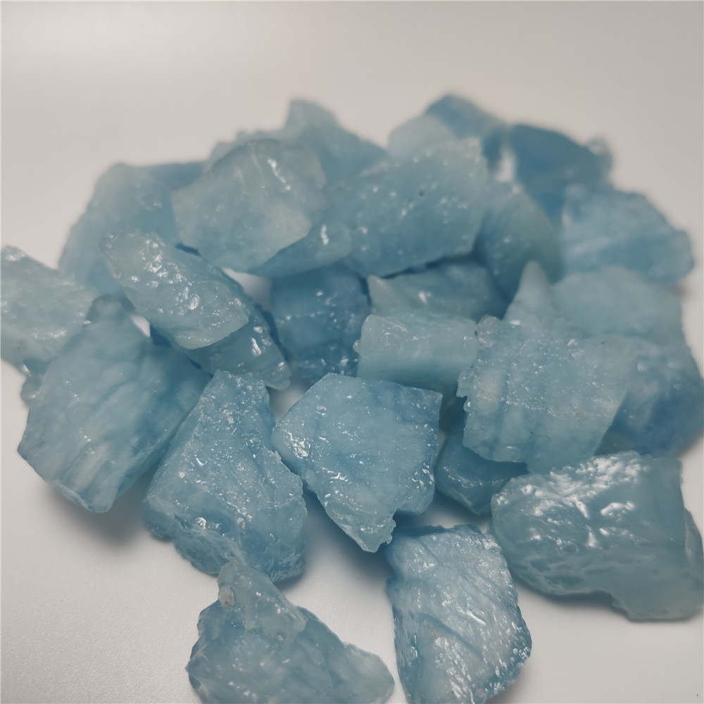 8-30mm Natural Aquamarine Quartz Beryl Gemstone Crystal Stone Mineral Specimen Hand-carved Materials For Jewellery Making