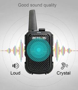 Image 4 - Retevis RT15 Mini Walkie Talkie 2 sztuk przenośny dwukierunkowy stacji radiowej UHF VOX USB do ładowania Transceiver komunikator walkie talkie