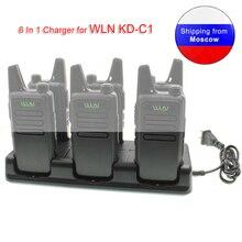 WLN Walkie Talkie 6 w 1 ładowarka do Mini Radio KDC1 UHF Two Way Radio KD C1 urządzenie do ładowania
