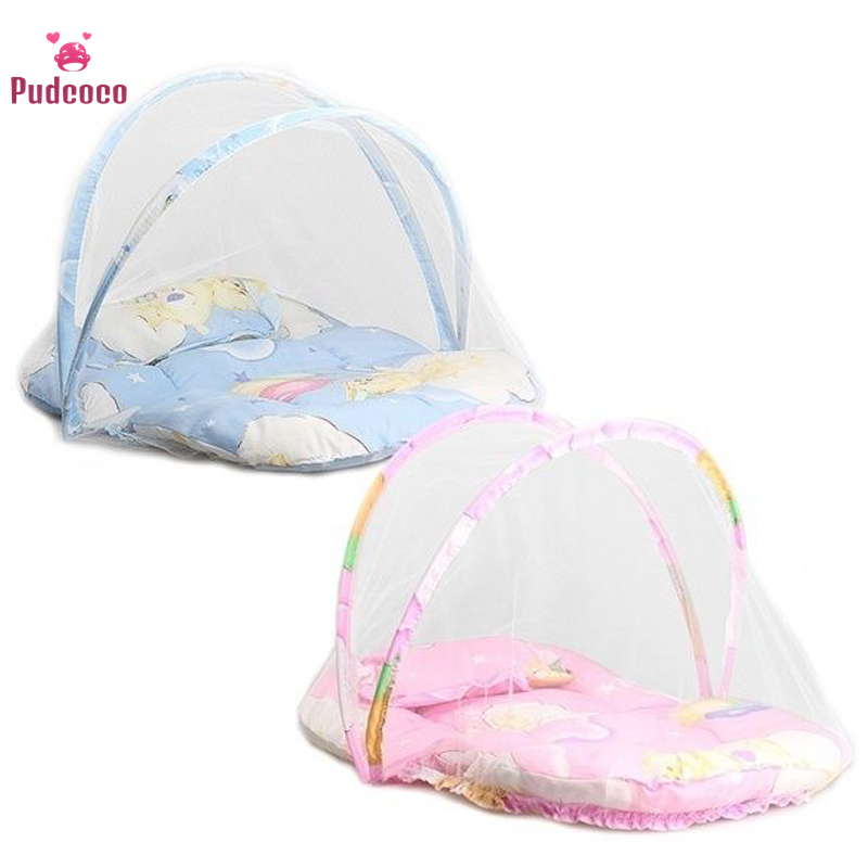 Pudcoco Brand Baby Bed Infant Portable Folding Travel Bebe Bed Crib Netting Canopy Mosquito Net Tent Princess Room Decor